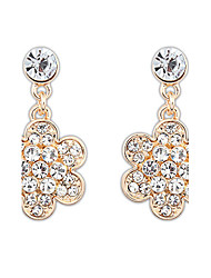 Btime Women's Fashion Flower Diamond Earrings
