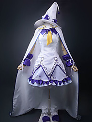 Vocaloid Snow Miku White & Purple Cosplay Costume