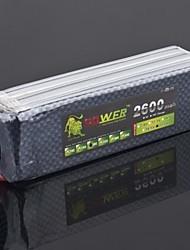 LION 22.2V 2600mAh 6S 30C Li-Po Battery (T Plug)