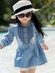 Girl's Dress Denim Spring