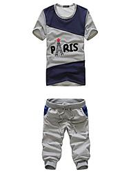 Mannen Paris Tower Print Suit