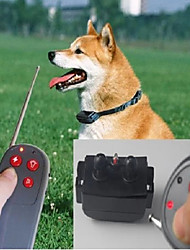 Dog Bark Collar Dog Training Collars Anti Bark Remote Control Electronic/Electric Shock/Vibration Solid Black Nylon