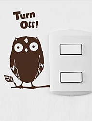 Animals The Owl Switch Sticker Wall Stickers