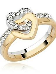 Fashion Unisex-Legierung Paar Ringe (Gold-Silber) (2 Stück)