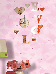 """24""""H Modern Style Lively Love Mirror Wall Clock"""
