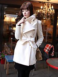 Women's Coats & Jackets , Tweed Casual/Work YinSeXiaoPu