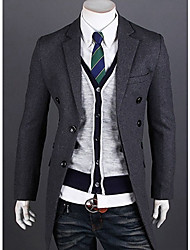Men's Korean Version Front Hidden-Interlocking Trench Coat