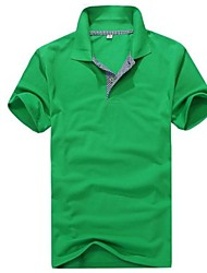 Uomo Manica Corta Fashion Casual selvaggio Polo T-Shirt B