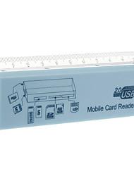 All-in-1 Card Reader Memória com régua (azul / preto / branco)