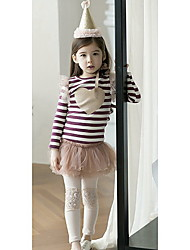 Girl's Striped Tee,Cotton Blend Winter