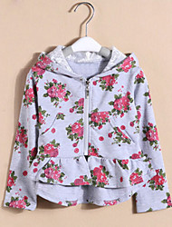 Girl's Floral Sweater & Cardigan,Lycra All Seasons