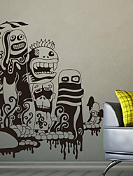 Cartoon Monsters Decorative Wall Stickers