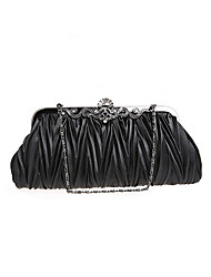 Semplice Evening Bag Satin Dual-Purpose BPRX nuove donne di (Nero)