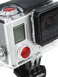Botón de aluminio anodizado de color Set-Red