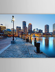 Stretched Canvas Print Art Landscape United States cities Boston
