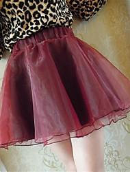 Mousseline de soie crinoline jupe des femmes