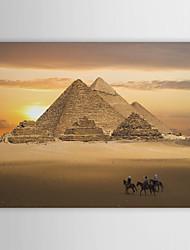 Stampa su tela Arte Paesaggio Egitto Piramidi al crepuscolo
