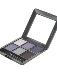 6 Palette de Fard à Paupières Lueur / Matériel Fard à paupières palette Poudre Normal Maquillage Quotidien