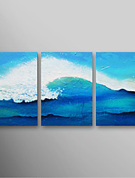 IARTS®Hand Painted Oil Painting Landscape Ocean Waves with Stretched Frame Set of 3 Ready to Hang