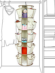 Multilayer Rotary Type Hang Shoe Storage Racks