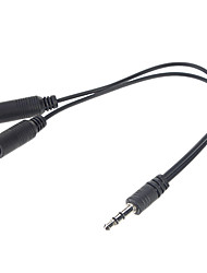 Jack audio 3,5 mm Splitter (Noir)