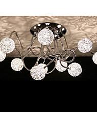Chandelier, 10 Light, Artistic Aluminum Chrome