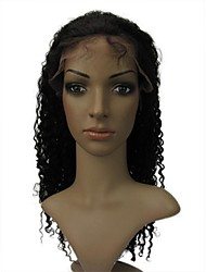 "Full Lace 14"" Ripple Curl 100% Indian Remy Human Hair Lace Wig-5 Colors to Choose"