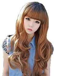 Hair Fashion longs ondulés synthétiques complet Bang Perruques 5 couleurs disponibles