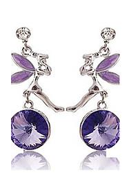 Cococo Sweet Rhinestone Earrings(Purple)