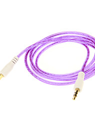 3.5mm Colorful Audio Jack Connection Cable (Purple 1.05m)