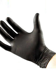 Black Nitrile Exam Latex-Free Tattoo Gloves Medium