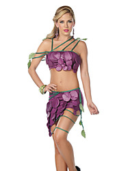 Lime Wedge Under Food Fruit Purple Polyester Women's Carnival Party Costume