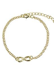 Akoland Women's Eight Shape Bracelet(Gold,Silver)