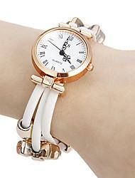Mulheres Bracele Relógio Japanês Quartzo Couro Legitimo Banda Vintage Flor Elegantes Preta Branco Vermelho Branco Preto Vermelho