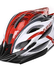 FJQXZ Мужская Открытый PC + EPS 22 Вентс красный + белый Велоспорт Hlemets