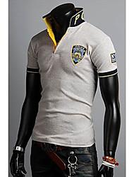 POLO T-shirt Versão Coreana Bordados Masculina