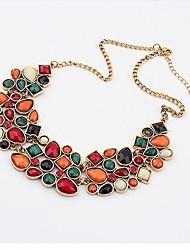Women's Statement Necklaces Zircon Alloy Fashion Luxury Jewelry Orange Jewelry Wedding Party 1pc