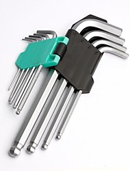 Pro′sKit  HW-229B 9PCS Ball Point Long Arm Hex Key Set(1.5,2,2.5,3, 4,5,6,8,10mm)