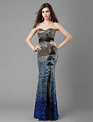 Military Ball/Formal Evening Dress - Pool Trumpet/Mermaid Sweetheart Floor-length Sequined