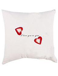 Gifts Bridesmaid Gift Personalized Heart Pattern Pillow Case (Pillow not Included)