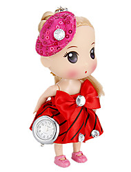 Donna Shape Doll Portachiavi Watch (Red)