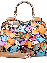 Victory Polo Abstract Colorful Tote(P330747-2)