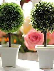 """9.8 """"h arbre en vase blanc arrangement ensemble de 2"""