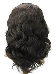"""Lace 12 completa """"Loose Onda Corpo indiano de 100% Remy cabelo humano Lace Wig-5 cores para escolher"""