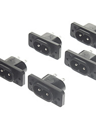 AC 250V 10A Power Jack Sockets (5-Pack, Nero)