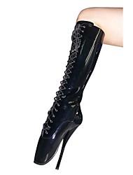 Черный - Женская обувь - Для вечеринки / ужина - Искусственная кожа - На шпильке - Модная обувь - Ботинки