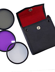 58mm UV+CPL+FLD 3-in-1 Set with PU Leather Bag