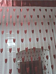 "British Countryside Magic Hearts Curtain Line - Three Colors Available (39""W × 78""L)"