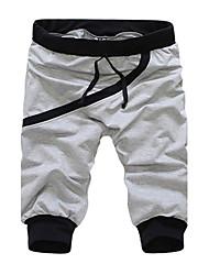 Hombres Costilla Costura recortada Pantalones deportivos