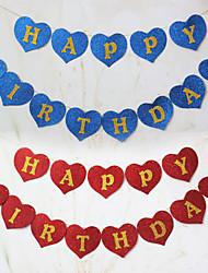 Cintilam Esponja Aniversário Banner Paper - conjunto de 13 peças (mais cores, 2M Rope Incluído)